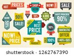 hot price  shop now  fantastic... | Shutterstock . vector #1262767390