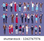 lots of people dancing at the... | Shutterstock . vector #1262767576