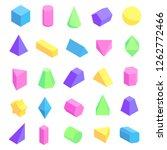 multicolored geometric shapes... | Shutterstock . vector #1262772466