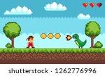 duel between man and dragon... | Shutterstock .eps vector #1262776996