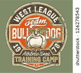 bulldog football team   grunge... | Shutterstock .eps vector #126278543