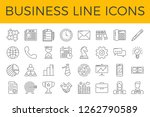 business related line icons set....   Shutterstock . vector #1262790589