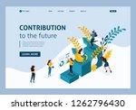 isometric concept achievement... | Shutterstock .eps vector #1262796430