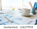 close up image of an office... | Shutterstock . vector #126279959