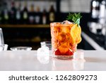 old fashioned with orange... | Shutterstock . vector #1262809273