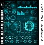 sci fi futuristic hud dashboard ... | Shutterstock .eps vector #1262815216