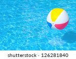 colorful inflatable ball... | Shutterstock . vector #126281840
