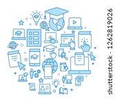 e learning distance education... | Shutterstock .eps vector #1262819026