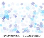 blue paper snowflakes flying... | Shutterstock .eps vector #1262819080