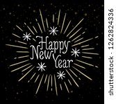 happy new year  holiday card... | Shutterstock .eps vector #1262824336