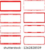 grunge post stamps collection ... | Shutterstock .eps vector #1262828539