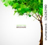 Green  Abstract Tree Forming By ...