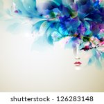 beautiful abstract women with... | Shutterstock .eps vector #126283148