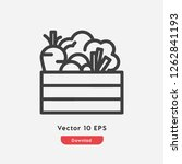vegetables icon vector....   Shutterstock .eps vector #1262841193