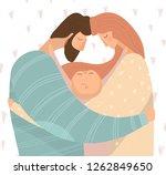 vector illustration of happy... | Shutterstock .eps vector #1262849650