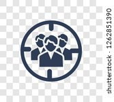 target audience icon. trendy... | Shutterstock .eps vector #1262851390
