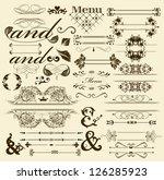calligraphic vector | Shutterstock .eps vector #126285923