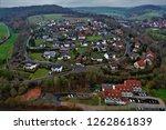 kirchheim from above | Shutterstock . vector #1262861839