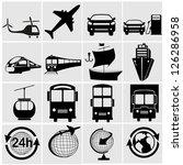 transport  transportation   set ... | Shutterstock .eps vector #126286958