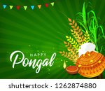 south indian festival pongal... | Shutterstock .eps vector #1262874880