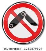 prohibition sign no folding... | Shutterstock . vector #1262879929