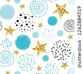 doodle star seamless pattern...