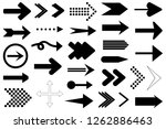 set of different arrows... | Shutterstock .eps vector #1262886463