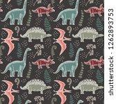 hand drawn seamless pattern... | Shutterstock .eps vector #1262893753
