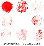grunge post stamps collection ... | Shutterstock .eps vector #1262896156