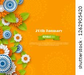 indian republic day holiday... | Shutterstock .eps vector #1262905420