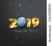 2019 happy new year micronesia...   Shutterstock .eps vector #1262908909