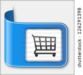 abstract icon of a shopping...
