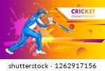 cricket championship poster... | Shutterstock .eps vector #1262917156