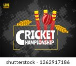 live cricket poster or banner... | Shutterstock .eps vector #1262917186