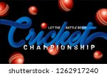 glossy blue text cricket on... | Shutterstock .eps vector #1262917240