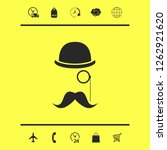 abstract hipster silhouette.... | Shutterstock .eps vector #1262921620