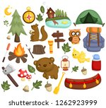 an image set of many item and... | Shutterstock .eps vector #1262923999