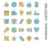 basic ui vector icon set