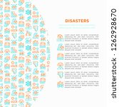 disasters concept with thin... | Shutterstock .eps vector #1262928670
