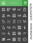 car servicing line icons | Shutterstock .eps vector #1262937079