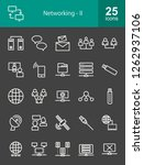 networking line icons | Shutterstock .eps vector #1262937106