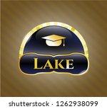 golden emblem or badge with...   Shutterstock .eps vector #1262938099