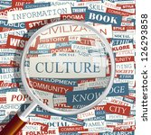 culture. word collage. vector... | Shutterstock .eps vector #126293858