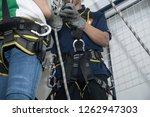 training for work on height... | Shutterstock . vector #1262947303