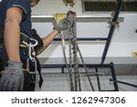training for work on height... | Shutterstock . vector #1262947306