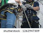 training for work on height... | Shutterstock . vector #1262947309
