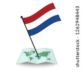 map with flag of netherlands... | Shutterstock .eps vector #1262948443