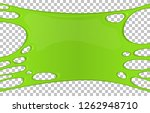 green sticky slime banner with... | Shutterstock .eps vector #1262948710