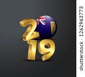2019 golden typography with... | Shutterstock .eps vector #1262963773