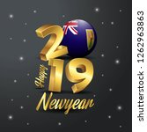 2019 happy new year turks and... | Shutterstock .eps vector #1262963863